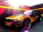 HOTTEST V6  MUSTANG BURNING ON THE ROAD SINCE 2011